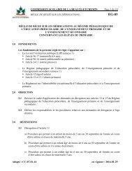 Règle de régie sur les dérogations - Commission scolaire de la ...