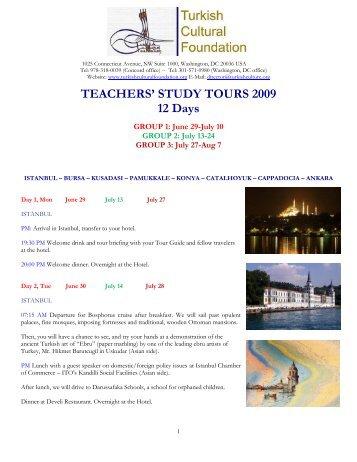 TEACHERS - Turkish Cultural Foundation