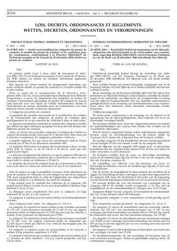 Koninklijk Besluit van 28 april 2011 - Goca