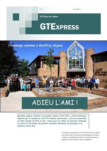 journal 02 2012 - IUT des Pays de l'Adour - Université de Pau et des ...