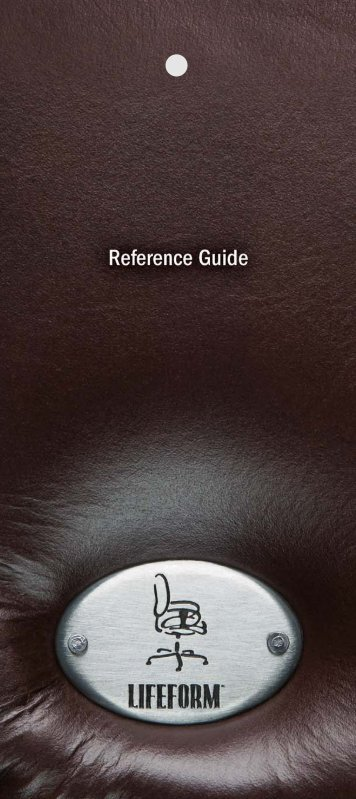 Reference Guide PDF - Lifeform Chairs