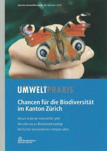 Zürcher Umweltpraxis Nr. 62 zum Thema Biodiversität (PDF