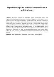 Organizational justice and affective commitment: a multilevel study