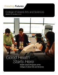 Good Health Starts Here - University of Colorado Foundation
