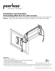 Installation and Assembly: Articulating Wall Arm for LCD screens