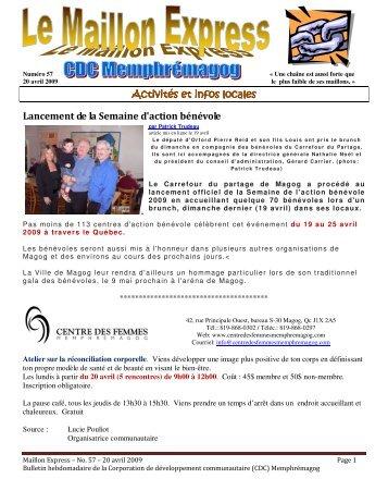 Activités et infos Activités et infos locales Lancement de la Semaine ...