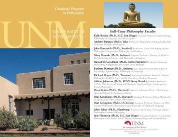 UNIVERSITY of NEW MEXICO - Graduate Studies
