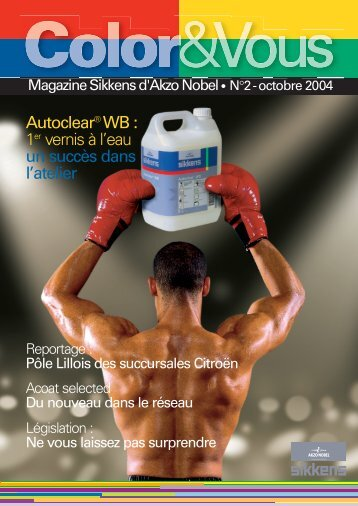 Autoclear® WB : 1er vernis à l'eau un succès dans l'atelier - Commlc