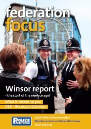 Winsor report - the South Wales Police Federation