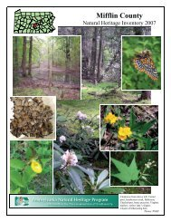 Mifflin County Natural Heritage Inventory, 2007 - Pennsylvania ...