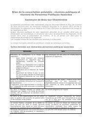 Bilan de la concertation préalable : réunions publiques et réunions ...