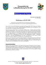 Medientage zu ELITE 2007 - Luftwaffe