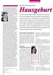 Hausgeburt - Schweizerischer Hebammenverband