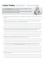 Carbon Tradies: Worksheet 3 – Barry the Builder - Savewater.com.au