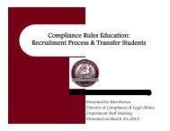 R it t P & T f St dt Recruitment Process & Transfer Students