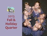 2013 Fall & Holiday Courses. - The Arts Castle