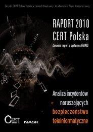 Raport Roczny CERT Polska 2010