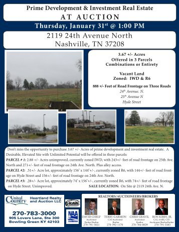 AT AUCTION - NAA Real Estate MLS