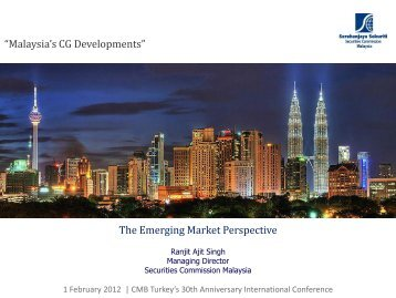 The Emerging Market Perspective - Capital Markets Board of Turkey