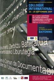 programme (PDF - 791 Ko) - Université de Pau et des Pays de l'Adour