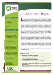 Le diabète en Poitou-Charentes - ARS Poitou-Charentes