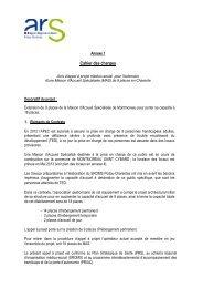 Cahier des charges - ARS Poitou-Charentes