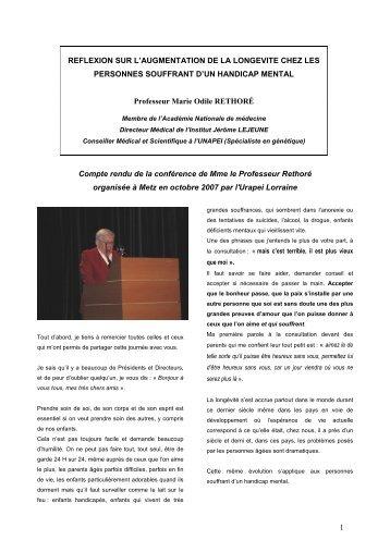 CR CCR Lorraine Rethoré octobre 2007 - Adapei