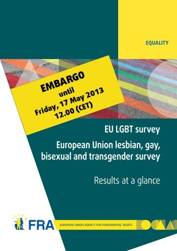 EU LGBT survey - European Union Agency for Fundamental Rights