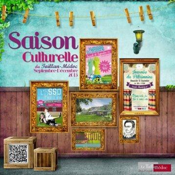 Guide culturel Septembre-Janvier 2013 - Taillan-Médoc