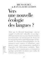 Vers une nouvelle écologie des langues ?