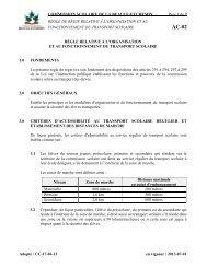 règle relative à l'organisation - Commission scolaire de la Beauce ...