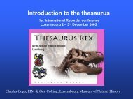 thesaurus browser - Extranet