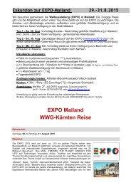EXPO Mailand WWG-Kärnten Reise