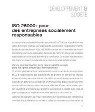 ISO 26000 : pour des entreprises socialement responsables