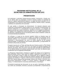 Programa Institucional de la Secretaría de Administración