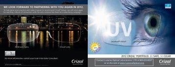 2012 crizal® portfolio. - Luzerne Optical Laboratories