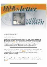 VELB Newsletter 1/2010 - Europäisches Institut für Stillen und ...