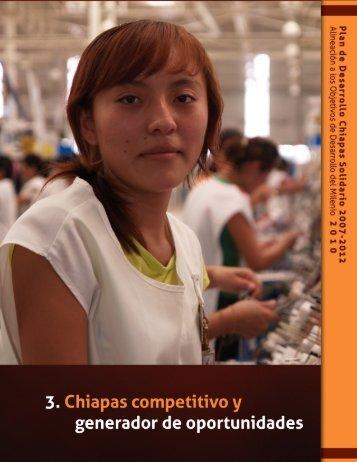 Eje 3. Chiapas Competitivo y Generador de Oportunidades