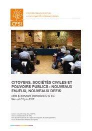 Télécharger les actes du séminaire [2.56Mo.pdf] - Cfsi
