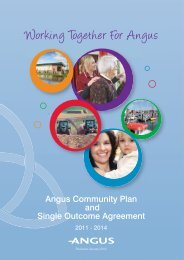 Angus Community Plan and Single Outcome Agreement 2011-2014