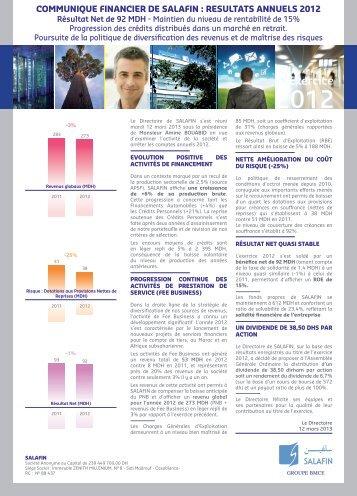 Exercice 2012 - Bourse de Casablanca