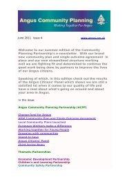 June 2011 - issue 4 (150 KB PDF) - Angus Community Planning