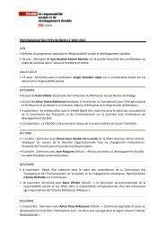 programmation previsionnelle 2009-2010 - Chaire de responsabilité ...