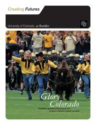 Colorado Glory - University of Colorado Foundation