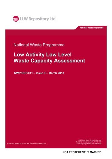 LA LLW Capacity Assessment – March 2013 - Low Level Waste ...