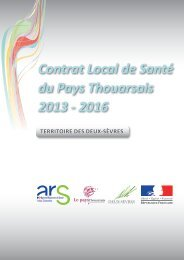 Le Contrat Local de Santé du Pays Thouarsais - ARS Poitou ...