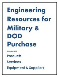 Engineering Resources for Military & DOD Purchase