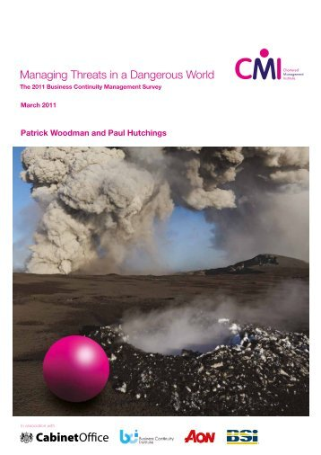 Managing Threats in a Dangerous World - Chartered Management ...