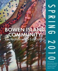 bowen island community - the School District - Sd45.bc.ca