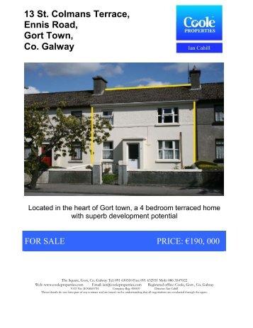 13 St. Colmans Terrace, Ennis Road, Gort Town, Co. Galway - Daft.ie